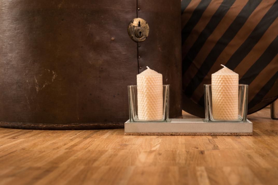 Kerzenhalter, Beton-Kerzenhalter JONTE aus der Heine & Becker Manufaktur