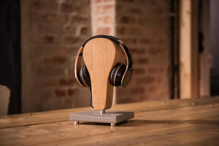 Kopfhörerständer, Beton-Kopfhörerständer NICK aus der Heine & Becker Manufaktur