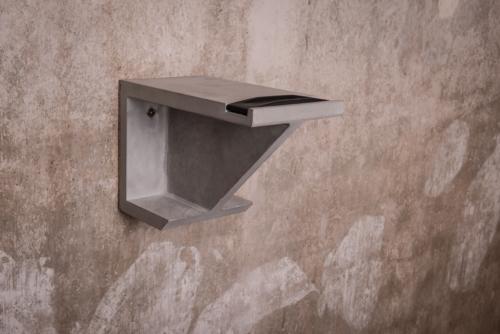Fahrradhalterung, Beton-Fahrradhalterung BRUNO aus der Heine & Becker Manufaktur