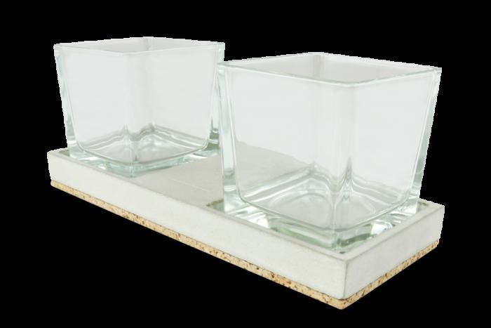 Beton-Kerzenhalter JONTE aus der Heine & Becker Manufaktur