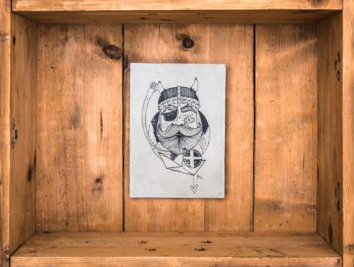 """Betonbild """"The old Wikinger""""Die weltweit ersten handgemachten Betonbilder ihrer Art! Made in Erfurt. Alle Betonbilder werden in unserer Manufaktur gefertigt. Keine Fließbandarbeit, sondern noch echte Handarbeit! Unser entwickeltes Druckverfahren erzeugt bei jedem Bild ein unterschiedliches Oberflächenfinish*, wodurch jedes Betonbild ein Unikat ist."""
