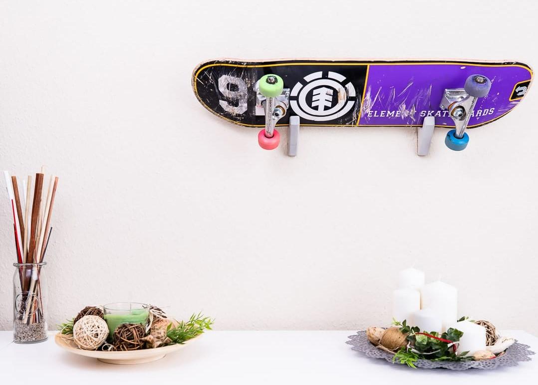 Skatboardhalterung OLLIE aus der HEINE & BECKER Manufaktur